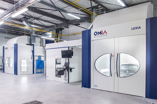 Spray painting booths Omia